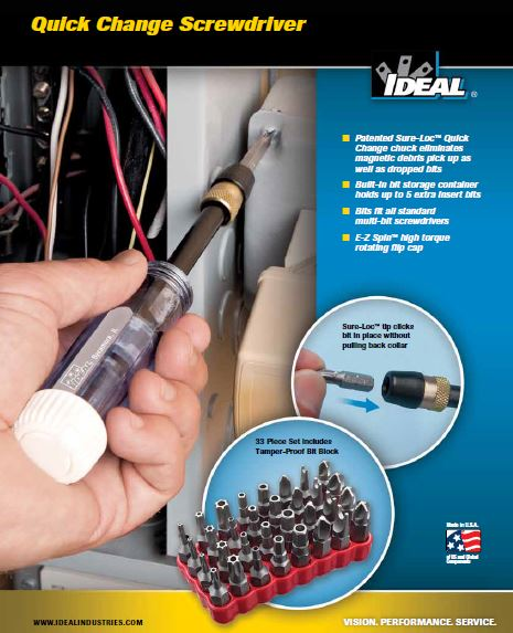 Ideal Quick Change Screw Driver
